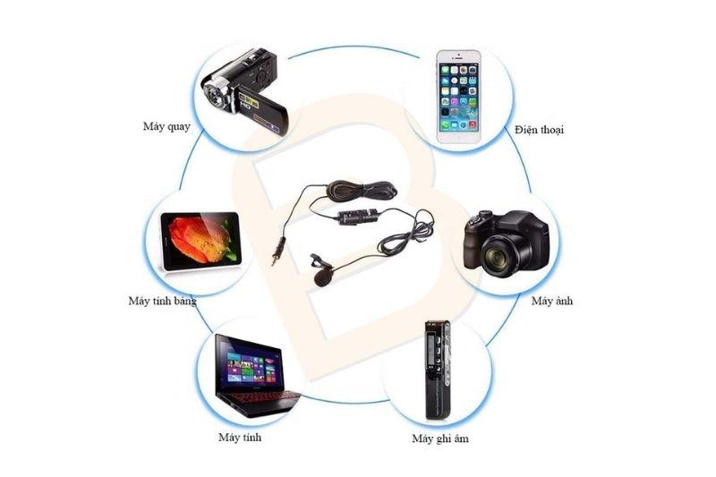 Boya BY-M1 có khả năng kết nối nhiều thiết bị khác nhau