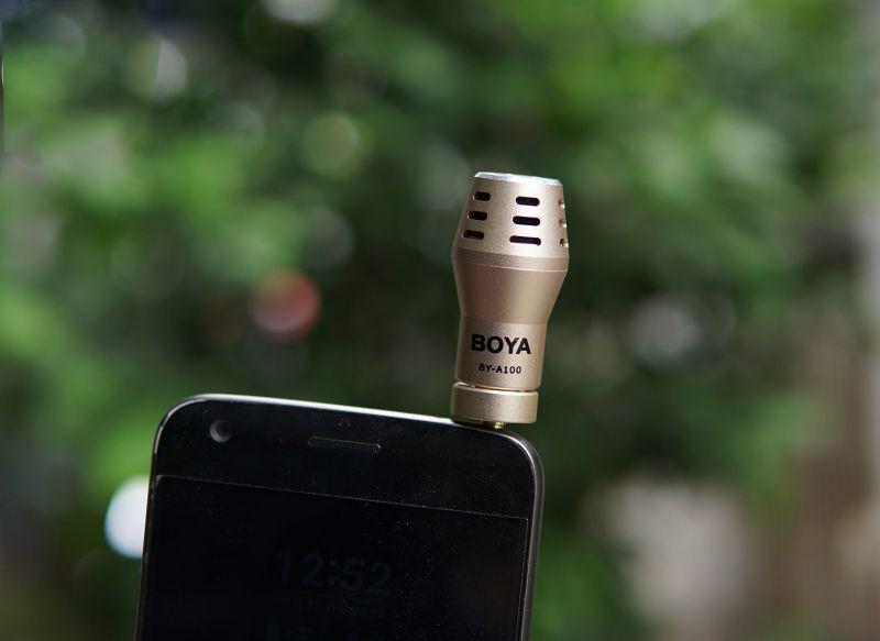 Thiết kế nhỏ gọn, tiện dụng của microphone Boya BY-A100