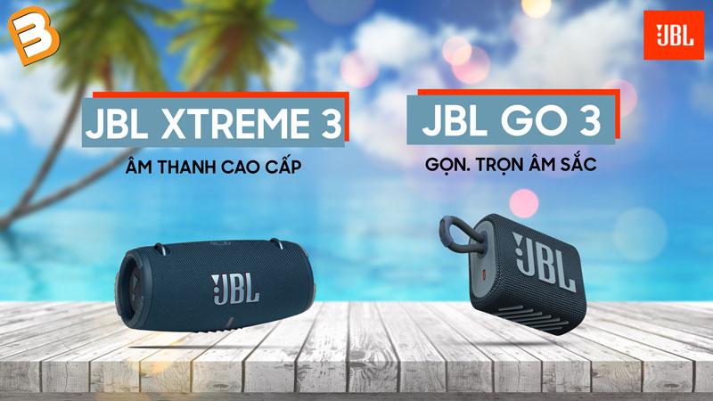 Loa bluetooth JBL GO 3 và JBL Xtreme 3