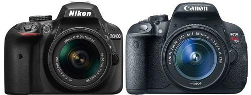 Nên chọn mua Nikon D3400 hay Canon 700D ?