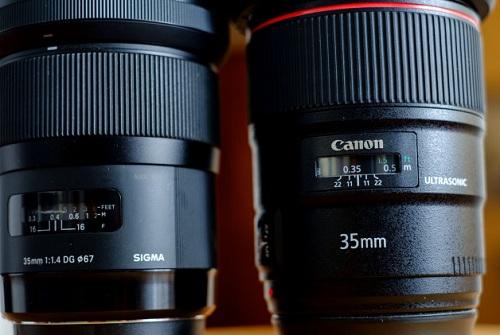 So sánh Canon 35mm F1.4 với Sigma F1.4 DG HSM ART