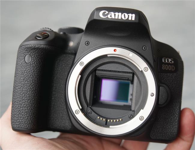 Trên tay máy ảnh Canon EOS 800D
