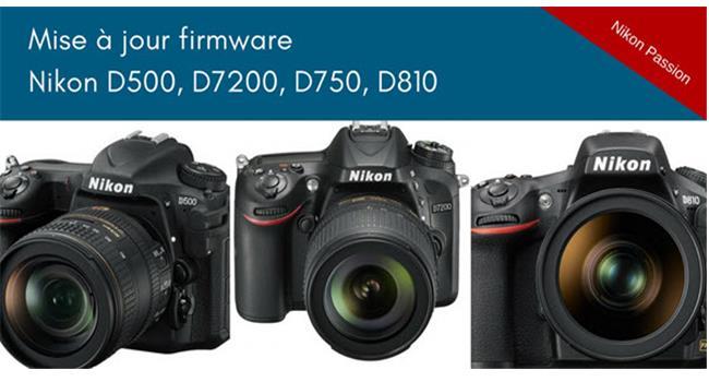 Đã có bản nâng cấp firmware mới cho máy ảnh Nikon D810, D750, D500 và D720 sửa nhiều lỗi