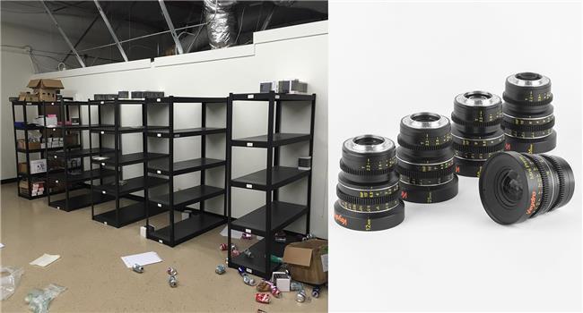 Một lượng lớn ống kính trị giá 200.000 USD đã bị mất trộm tại California