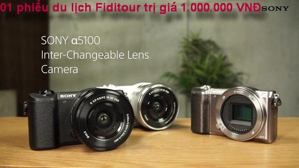 Nhận ngay 1 phiếu du lịch Fiditour trị giá 1triệu đồng khi mua máy ảnh Sony Alpha ILCE-5100L