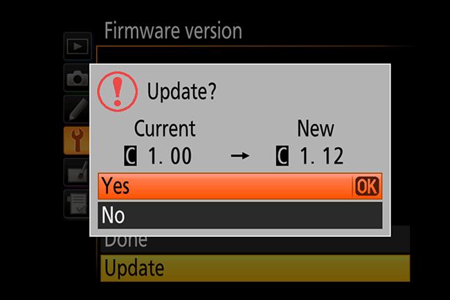 Những lưu ý khi cập nhật Firmware cho máy ảnh