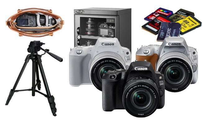 Những phụ kiện thích hợp cho máy ảnh Canon EOS 200D