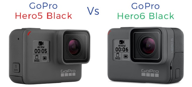 So sánh GoPro Hero 6 Black với Hero 5 Black