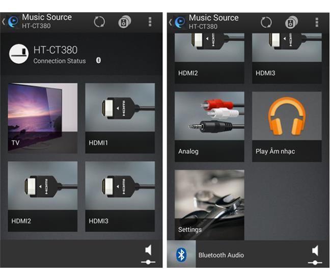 Hai ứng dụng giúp điều khiển dàn âm thanh và loa sounbar Sony bằng điện thoại