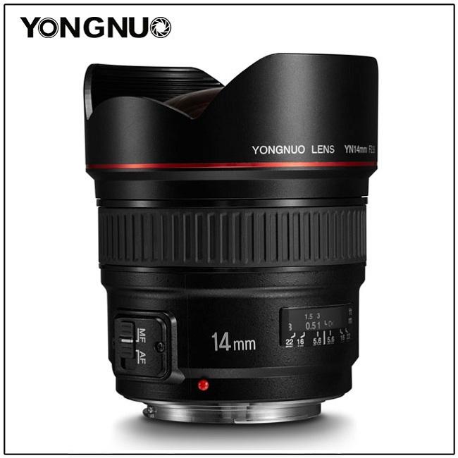 Yongnuo công bố ống kính lấy nét tự động 14mm f / 2.8