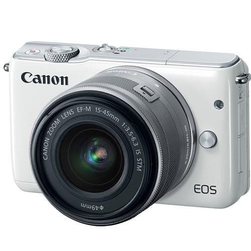 Máy Ảnh Canon EOS M10 Kit EF-M15-45 (Trắng)