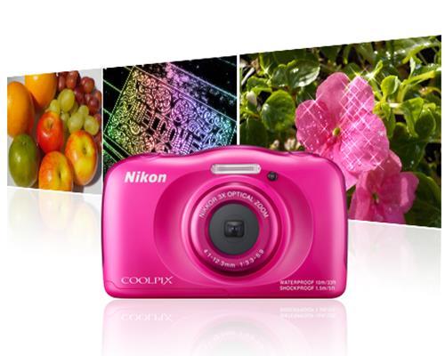 Máy ảnh Nikon Coolpix S33 (Hồng)