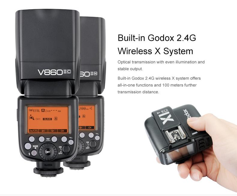 Đèn Flash GODOX V860II GN60 TTL HSS 1/8000s Canon/Nikon/Sony