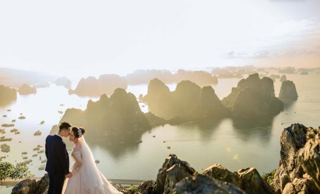 Kết quả hình ảnh cho chụp ảnh cưới ở vịnh hạ long