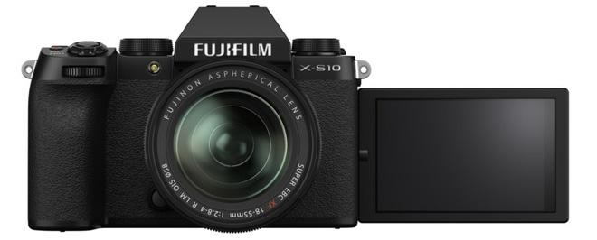 Màn hình gương lật linh hoạt của máy anh Fujifilm X-S10
