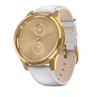 Đồng Hồ Thông Minh Garmin Vivomove Luxe (Gold-White, Leather)