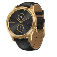 Đồng Hồ Thông Minh Garmin Vivomove Luxe (Pure Gold Black, Leather)