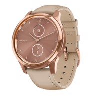 Đồng Hồ thông Minh Garmin Vivomove Luxe - Rose Gold/Beige/Leather