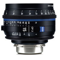 Ống Kính ZEISS Compact Prime CP.3 15mm T2.9 (PL Mount, Meters)
